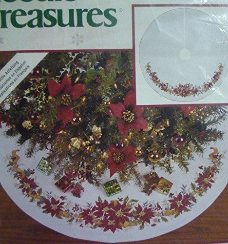 Poinsettia Tree Skirt Counted Cross Stitch Kit 02940 - 40