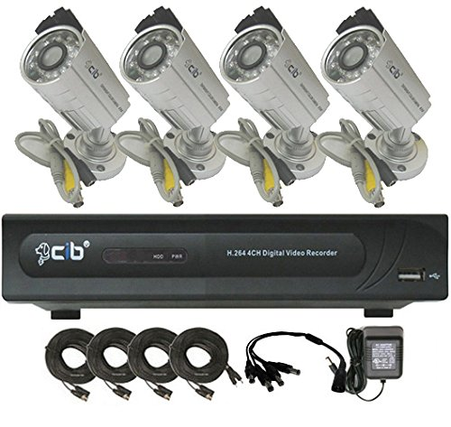 CIB 4CH J960H04N1000G7652 960H HDMI 1080P Output 120FPS Real Time Network Security Surveillance DVR 1000GB HDD Four EFFIO CCD 800TVL Bullet Cameras KIT