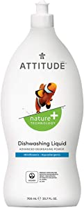ATTITUDE Dish Detergent, Plant-Based, Hypoallergenic, Eco-Friendly