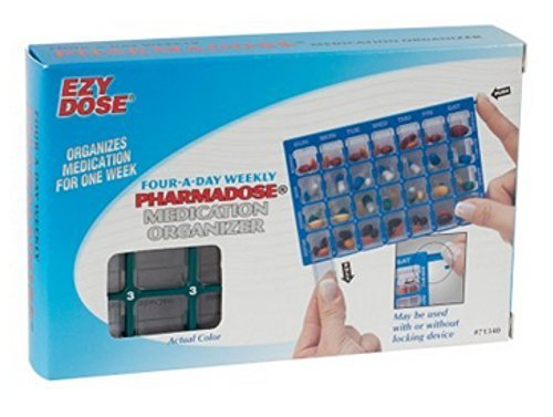 Ezy Dose Pharmadose Medication Organizer, with Locking Device - 1 Ea (Locked Pill Dispenser compare prices)