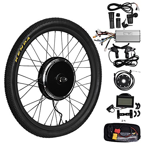 dbd98796de2 TTLIFE 26″ 48V 1500W Front Wheel Powerful Brushless Gearless Hub Motor  Electric Bike DIY Conversion Kits With LCD3 Display