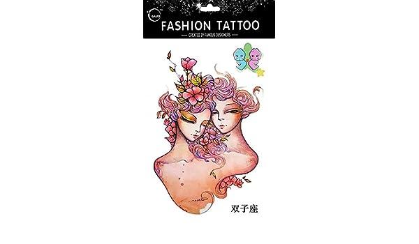 Tatuajes Temporales Para Diferentes constelación Géminis de 12 ...