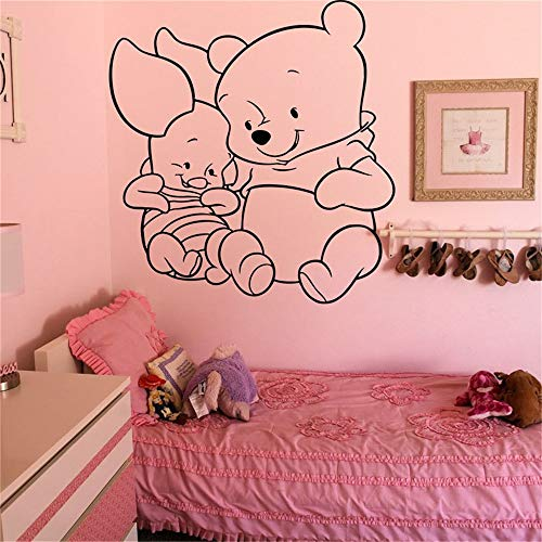 Vinyl Wall Decal Sticker Decor Nursery Winnie The Pooh Cartoon Nursery Kids Room Cute Cartoon Poster]()