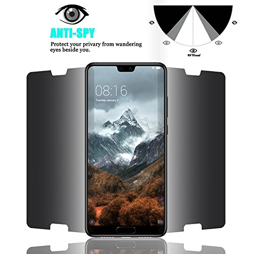 For Huawei P20 Pro Privacy Glass Screen Protector - Full Coverage Tempered Glass Screen Protector [2 PACK] For Huawei P20 Pro Anti-spy 9H Hardness Front Glas Protector hot sale 2017