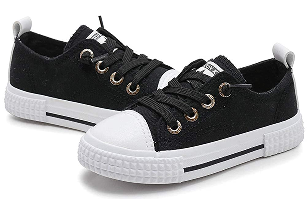 Toddler//Little Kid//Big Kid iDuoDuo Girls Boys Classic Solid Color Twist Lace Up School Sport Sneakers