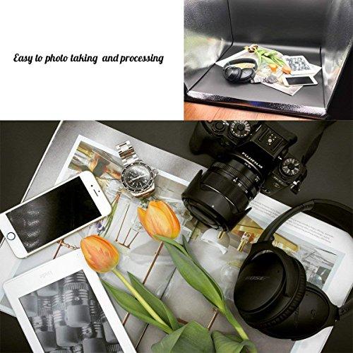 "ESDDI Studio Box 24""/60cm Portable Loop Top 120 LED Lights Colors"