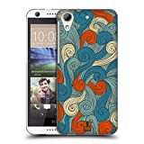 Head Case Designs Blue And Orange Vivid Swirls Hard Back Case Cover for HTC One M8 / M8 Dual Sim / M8s