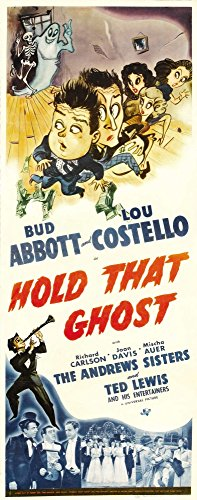 Posterazzi Hold That Ghost Top from Left: Lou Costello Bud Abbott Andrews Sisters 1941. Movie Masterprint Poster Print, (24 x 36)