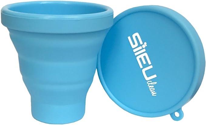 Sileu Esterilizador Plegable de Silicona con Tapa Reutilizable ...