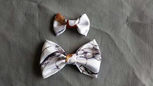 white camo hair bows