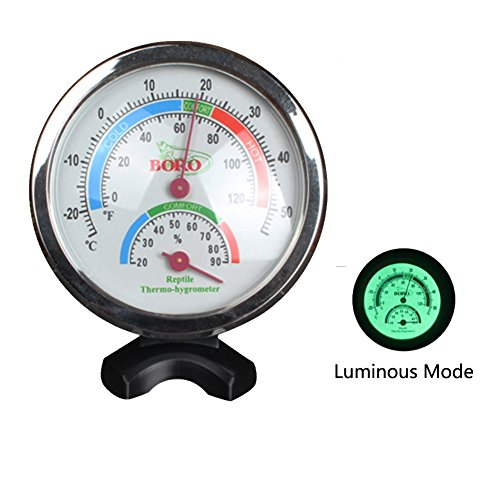 Aisamco Reptile Thermometer & Humidity Gauge with Night Vision Function