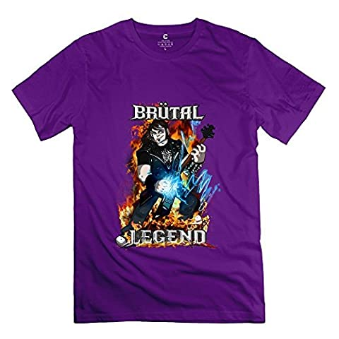 Men's Latest Tee - Brutal Legend Game Purple Size M (Roku Purple)