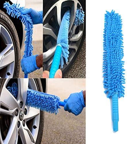 Vvciic Flexible Extra Lange Weiche Chenille Auto Radwaschbürste Felgenreiniger Autowaschzubehör Auto