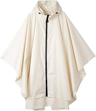 QZUnique Mens Fashion Outdoor Waterproof Packable Rain Jacket Poncho Raincoat with Hood