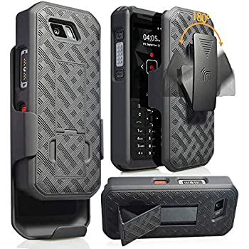 the best attitude bace9 06095 Sonim XP5s Case with Clip, Nakedcellphone [Black Tread] Kickstand Cover  with [Rotating/Ratchet] Belt Hip Holster Combo for Sonim XP5s Phone (XP5800)