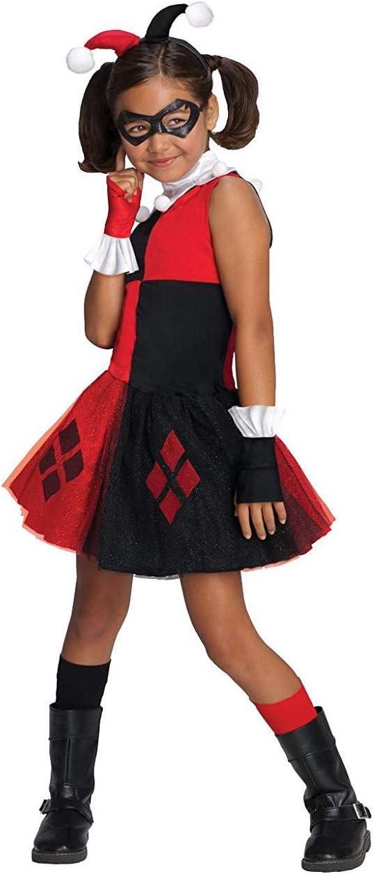 Disfraz de Harley Quinn tutú para niña - 5-7 años: Amazon.es ...