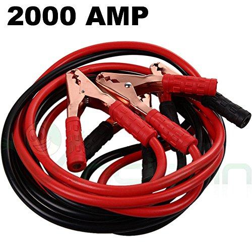 Câbles de démarrage 2000A, 2 mètres, avec pinces, pour batterie de voiture, moto et camping-car
