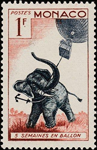 1955 Monaco Postage Stamp Jules Verne Anniversary -