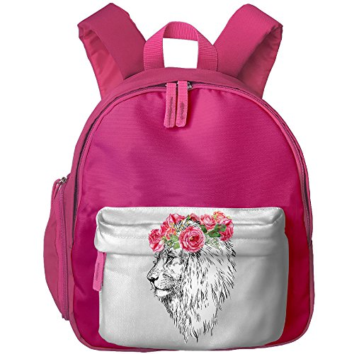 Theatre Costumes King Lion (Casual Daypack Cute Shoulder Bag For Children The Lion King Head With Wreath Sister Class Gift Fashion)