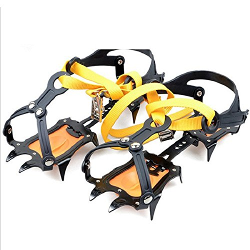 High Manganese Steel 10 Teeth Ice Claw Mountaineering Skis Walking Snow Hiking Shoes Accessories