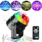 LED Disco Ball Lights, QINGERS Dj Stage Light 7 Colors Sound Activated For