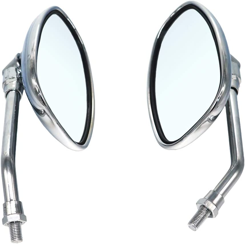 Motorcycle Rearview Mirrors Motorbike Chrome 10MM Side mirrors For Suzuki Intruder Volusia VS 700 750 800 1400 1500