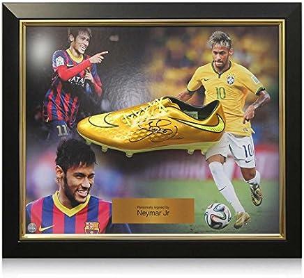 Lujo Neymar Jr Firmado Enmarcado O Hypervenom zapatos Nike de ...