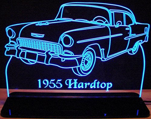 1955 Chevy Hard Top Acrylic Lighted Edge Lit 12