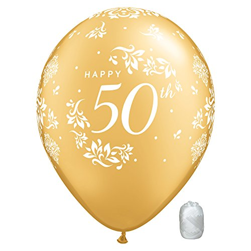 50th Wedding Anniversary Balloons Decorations (10 Pack 11