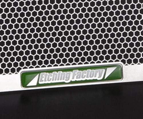 エッチングファクトリー(ETCHING FACTORY) オイルクーラーガード 緑エンブレム GSX-R1100 (90-92)