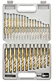 "Tooluxe 10055L Titanium Coated Hex Shank Drill Bit Set, 30 Piece | Quick Change Design | 1/16"" - 1/2"""
