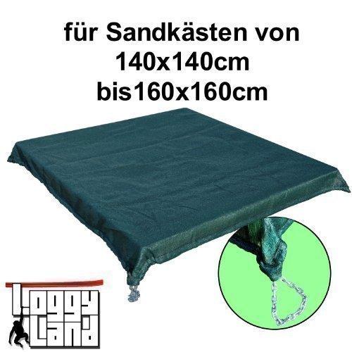 Sandkastenabdeckung mit Kette für 1.4 bis 1.6 m Seitenlänge