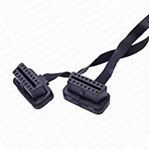 30cm OBD2 OBD II Splitter Y J1962 Cable Male to Dual Female with FLAT NOODLES