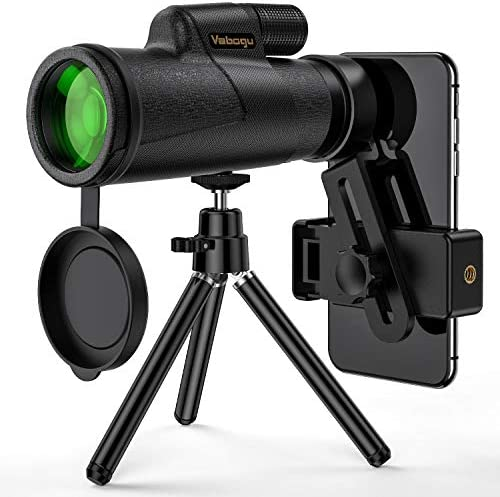 Monocular Telescope, 12×50 High Power HD Monocular for Bird Watching Adults with Smartphone Holder Tripod BAK4 Prism for Wildlife Hunting Camping Travelling Wildlife – 2019 Newest