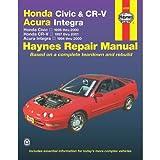 img - for Honda Civic 1996-2000, Honda CR-V 1997-2000 & Acura Integra 1994-2000 (Haynes Automotive Repair Manual) book / textbook / text book