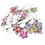 Dovewill 50 Pieces Monkey Shaped Wooden 2-holes Craft Buttons for Scrapbooking Kids Crafts DIY 30mm