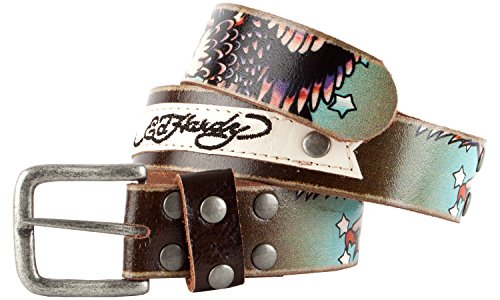 Ed Hardy EH1120K Eagle Patch Boys-Leather - Fashion Belt Ed Hardy