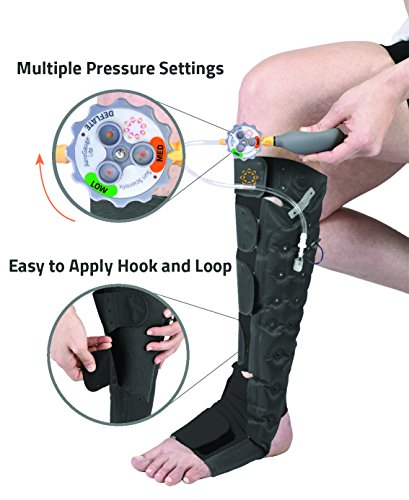 Aero-Wrap Lite™ Easy to Apply Inflatable Gradient Compression System for Leg Recovery. Don't struggle with tight stockings. by Aero-WrapTM