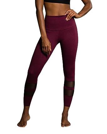 66e5680735761 Onzie Midi Racer Leggings 2028 Burgandy at Amazon Women's Clothing ...