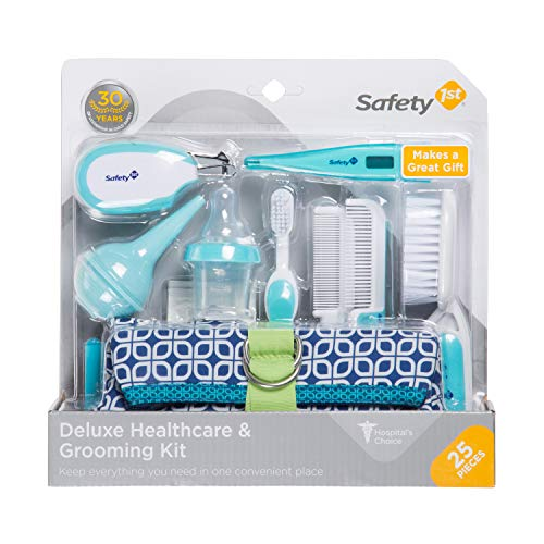 - Safety 1st Deluxe 25-Piece Baby Healthcare and Grooming Kit (Arctic Blue)