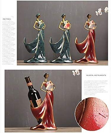Yxsd European Wine Rack Accesorios for El Hogar Botella De Vino Rack Sala De Estar Vinoteca Decoraciones Artesanía Muebles Creativos, Azul, Rojo (Color : Red)