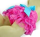 Toptim Baby Girl's Bloomer + Headband Set Lace