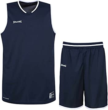 Spalding Baloncesto Combo Set Camiseta Move Camiseta + Pantalones Cortos verschied. Colores, Azul Marino/Blanco: Amazon.es: Deportes y aire libre