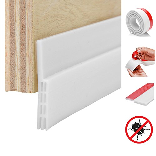 Strongman Tools | White Weather Stripping for Doors | 1 Meter 2