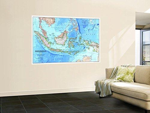 1996 Indonesia Map Wall Mural by National Geographic Maps 48 x 72in by NATIONAL GEOGRAPHIC MAPS POD