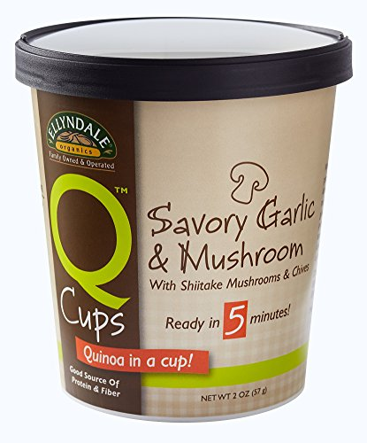 NOW Foods Ellyndale Q Cups Organic Quinoa, Savory Garlic and Mushroom , 2-Ounce (Pack of 12)