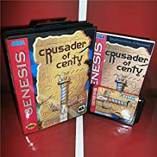 Crusader Of Centy US Cover with Box and Manual For Sega Megadrive Genesis Video Game Console 16 bit MD card - Sega Genniess - Sega Ninento, 16 bit MD Game Card For Sega Mega Drive For Genesis