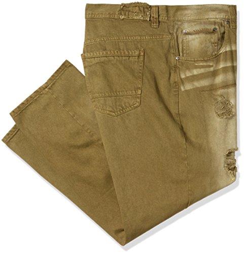 Oliva Denim Fashion Colored Akademiks Verde Mezclilla Hombres Jeans q0tww71