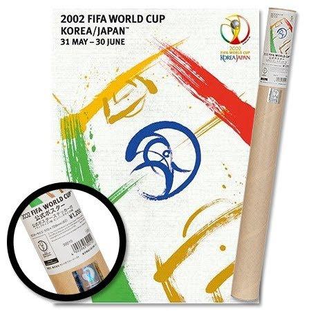 2002World Cup Corea/Giappone ufficiale Poster + 10adesivi 73cm x 52cm, unisex, Multi Coloured, Taglia unica