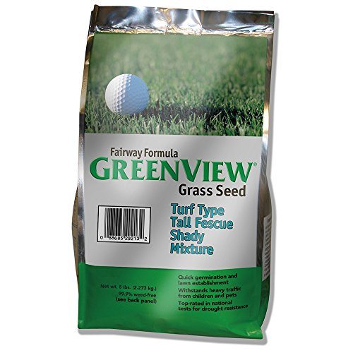 Tall Fescue Shade (GreenView Fairway Formula Grass Seed Turf Type Tall Fescue Shady Mixture, 5 lb Bag)